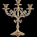 Бронзовый подсвечник на 3 свечи «Готика»