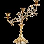 Бронзовый подсвечник на 3 свечи «Грация»
