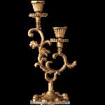 Подсвечник бронзовый на 2 свечи «Комильфо»