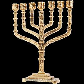 Бронзовый подсвечник на 7 свечей «Менора иерусалимская»