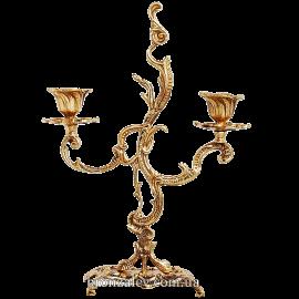 Подсвечник бронзовый на 2 свечи «Пламя»