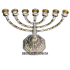 Подсвечник из бронзы для 7 свечей «Золотая Менора»