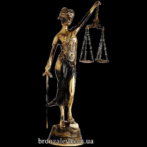 Статуэтка из бронзы - «Фемида» высота 38 см.