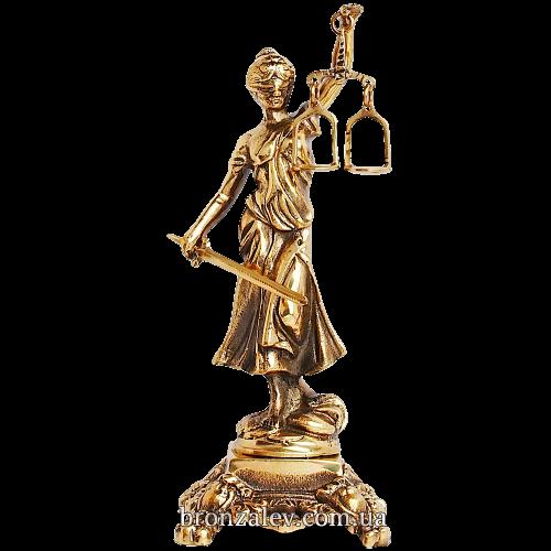 Статуэтка «Фемида» (мал.) из бронзы