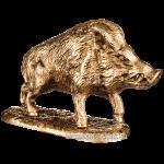 Статуэтка из бронзы «Дикий кабан»