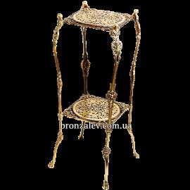 Столик из бронзы «Квадратный»