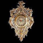 Часы из бронзы для домашнего декора.