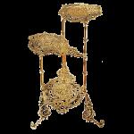 Декоративные столики и подставки из бронзы под цветы