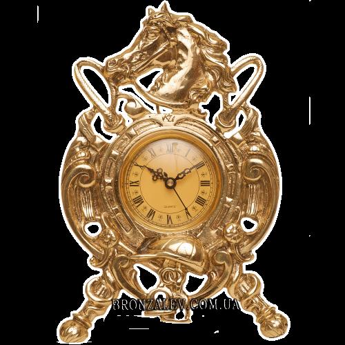 Часы настольные из бронзы — «Конь»