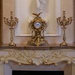 Каминные часы с 2 канделябрами на 5 свечей