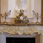 Каминные часы с 2 подсвечниками на 3 свечи