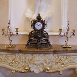 Часы «Каминные» с 2 подсвечниками на 2 свечи
