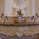 Каминные часы с 2 подсвечниками на 2 свечи