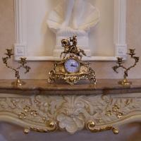 Часы «Охота» с подсвечниками для 2 свечей
