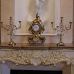 Часы каминные с 2 подсвечниками для 3 свечей