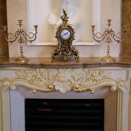 Часы каминные с 2 подсвечниками на 3 свечи