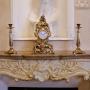 Каминные часы с 2 подсвечниками на 1 свечу