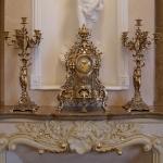 Каминные часы с 2 канделябрами на 6 свечей