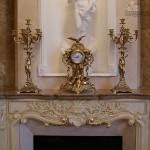 Часы каминные с парой канделябров на 6 свечей