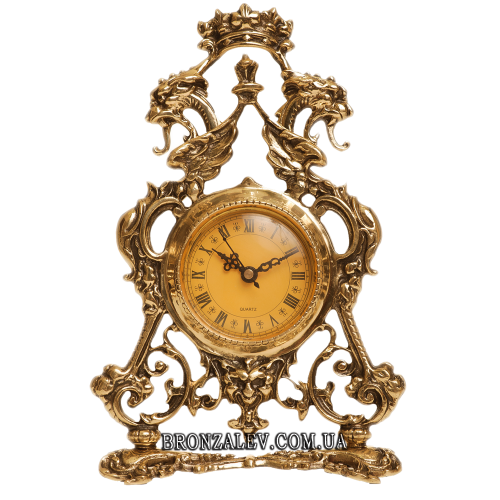 Настольные часы из бронзы — «Корона»